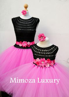 Mother and Daughter matching Princess Tutu Dresses Super exquisite adult tutu dress + matching daughter dress, for stylish mothers and daughters, perfect for mother and daughter matching style. Can be made in color combination of your choice, lots of colors available The dresses are