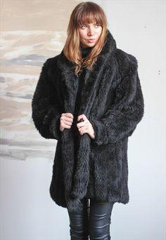 Vintage+Faux+Fur+Jacket+Coat