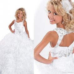 Stunning in a Crystal Embellished Wide Halter Straps Girl's Pageant Dresses | Buy Wholesale On Line Direct from China