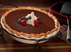 HERSHEY'S Kitchens | HERSHEY'S Cocoa Cream Pie Recipe.  Had this at Thanksgiving, and I could eat it every day of my life.