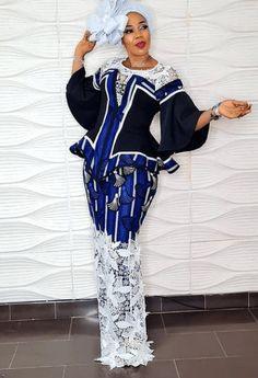 Lace and Ankara Combination Styles