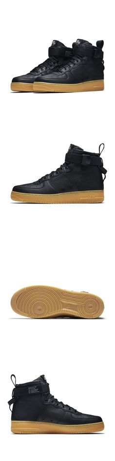 Basketball: Nike Sf Af1 Mid Black Gum 917753-003 Men S Special Field Air Force 1 Sfaf -> BUY IT NOW ONLY: $139 on eBay!