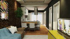 Sala by coisas de arquitecto. #3D #projecto #decor #interiores