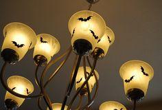 Light Fixture Makeover:  Spooky, Quick & Temporary