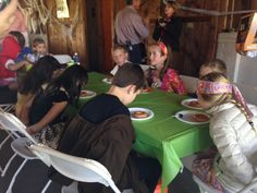 Donut eating contest at the Kids Halloween Party at Greenbrier Golf & Country Club!