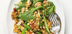 Salade d'épinards aux lentilles et aux asperges Recettes | Ricardo