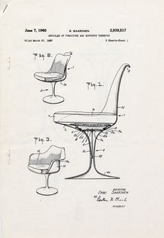 | CHAIR DU JOUR #05 | Eero Saarinen- Tulip Chair