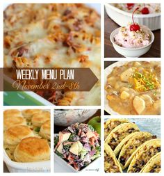 November is here and so is the freezing cold weather. It came too soon… and I just don't know if I'm ready for snow, and cold season. But this weeks menu plan  is sure to keep your bellies warm, and get you in the holiday spirit. @sixsistersstuff