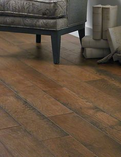 Show Details For Anderson Antique Walk Hickory Copper Kettle Dark Brown Hardwood Wide Plank Flooring