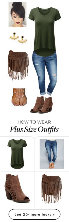 """Everyday Tshirt & Jeans plus size"" by jacobjarettsmom on Polyvore featuring Wet Seal, Rampage, Glamorous, Ettika, women's clothing, women, female, woman, misses and juniors"