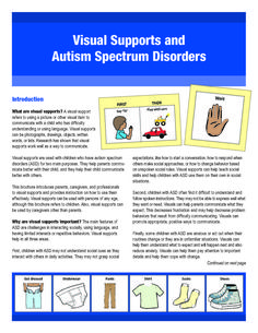 Autism Resources from the Autism Center of Excellence, UC San Diego  Visual schedule PDF