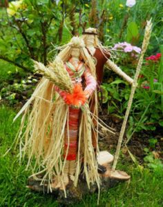 Handfasting Gift . Lammas Corn Dolly Goddess God Handmade by Rowan Duxbury positivelypagan.com