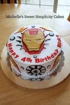 Iron Man Cake Zay S Cakes Pinterest Iron Man Cakes