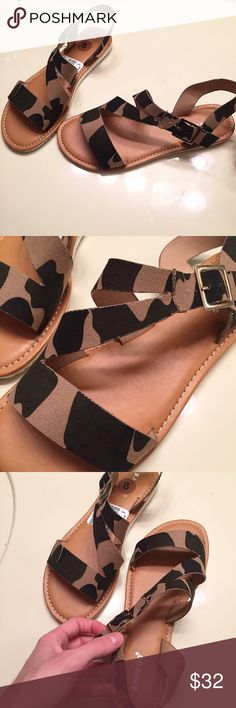NEW camo print sandals by Bamboo size 8 Brand new, never worn and still with tags. Camo print sandals by [Bamboo] women's size 8 Bamboo Shoes Sandals
