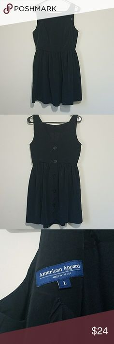 AA Button Back Dress Gently worn dress. Size large. American Apparel Dresses Mini