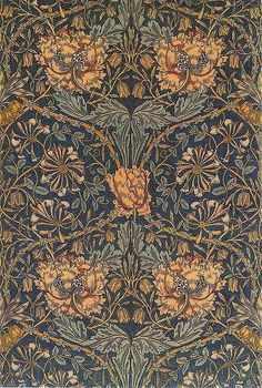 Made In Italy Rice Paper Decoupage Sheet Art Nouveau Flowers And Vines William Morris RCP-TX-127