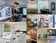 Jaw Dropping Dining Rooms! BAHIR-Hand crafted artisan glass designs; info@bahirlighting.com; 612.343.2000