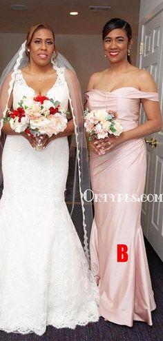New Arrival Mismatched Floor-length Long Cheap Bridesmaid Dresses, BDS – Oktypes Elegant Bridesmaid Dresses, Formal Dresses, Famous Brands, Fabric Swatches, Dream Dress, Dress Making, Cocktails, Satin, Floor