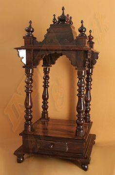 Pooja Room Mandap in Wood | Pooja room | Pinterest | Woods, Room ...