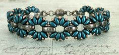 Bracelet of the Day: Claudia - Steel Blue & Graphite