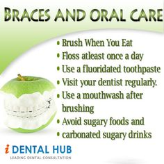 Braces And Oral Care  http://www.identalhub.com/dental-care-of-teeth-with-braces-568.aspx