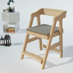 Classic Solid Wood Small Ergo Chair (White or Pine) - Ergo Study & Dressers (4-16 years) - Study Tables - for all ages - Products