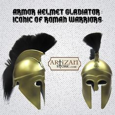 """‪#Expirence the Life of a #Knight"" Shop from Range of ‪#Handcrafted‬ Medieval Helmets, designed by using fine quality iron. from www.artizanstore.com."