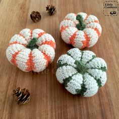 Striped Pumpkin Crochet Pattern - Pumpkin and Gourd Series - Little Conkers