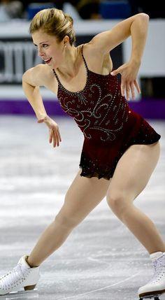 Ashley Wagner -Red Figure Skating / Ice Skating dress inspiration for Sk8 Gr8 Designs.