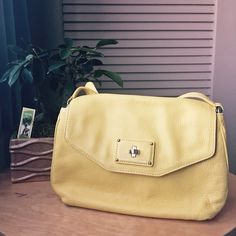 Marc by Marc Jacobs Leather Bag Genuine Italian Leather Marc by Marc Jacobs cross-body bag features a silver-tone logo plate and a pleated exterior. in lovely yellow color,  delicately worn a few times, like new. In excellent condition. It has original Marc Jacobs dust bag. Marc by Marc Jacobs Bags Crossbody Bags