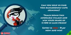 Take part in the ShieldSlots sweepstake! Help us find this villain and you can win your share of $300 in cash prizes! Can You Help, Cash Prize
