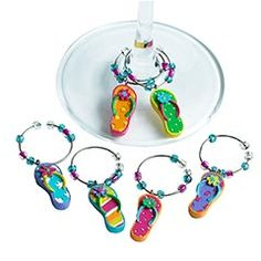 Flip Flop Wine Charms...everyone invited will definately get a personalized one!
