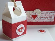 box and card with love
