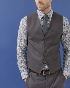 Mini design waistcoat - Purple   Relaxed Tailoring   Ted Baker