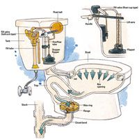 How A Toilet Works Amp Toilet Plumbing Diagrams Toilet And