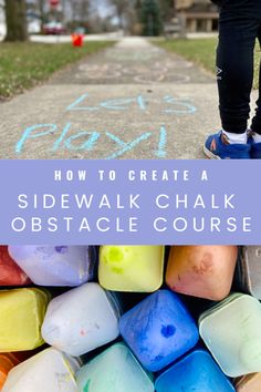 How to Create a Sidewalk Chalk Obstacle Course - Queen of the Land of Twigs 'N Berries Kids Activities At Home, Girl Scout Activities, Fun Activities, Babysitting Activities, Summer Fun List, Summer Kids, Summer Sun, Kids Obstacle Course, Block Scheduling