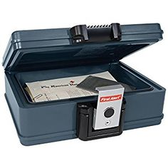 First Alert 2017f Fire and Water Chest, 0.19 Cubic Foot, Gray New