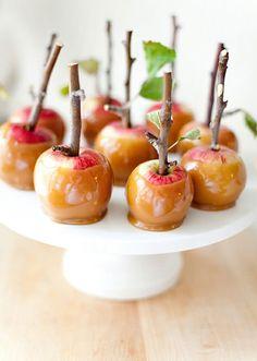 DIY Caramel Apples with Twig Sticks