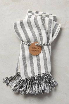 Stripe Tassel Napkins