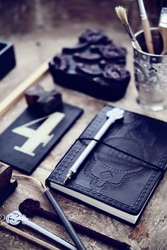 office styling #decor #styling #black #journals