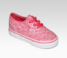 12450495a8 VANS x Hello Kitty Toddler Authentic Lace Up  Pink VANS for Hello Kitty   35.00 Princess