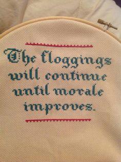Cross stitch moral booster x stitch