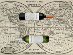 Wine Recipes, Happy New Year, Wine Rack, Map, Food, Decor, Happy, Decorating, Meal