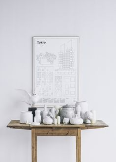Giveaway: Tokyo Print by Studio Esinam Instalation Art, Turbulence Deco, Shades Of Beige, The Way Home, Scandinavian Home, Scandinavian Christmas, Interiores Design, Decoration, Interior Styling