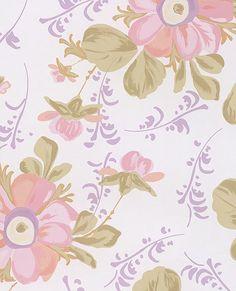 Lyse Ecru Painted Flowers Wallpaper