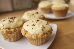 White Russian Cupcakes, Inspired By 'The Dude': Also mentions something called a baking and bowling league that sounds right up my alley-- or lane maybe.