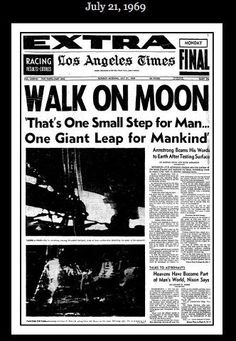 Los Angeles Times, Man on Moon July 21, 1969