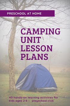 Looking for things to do this summer with your kids? Grab our Camping Family Activity Guide with preschool at home lesson plans, including 40 fun indoor and outdoor activities for toddlers and preschoolers. Educational Activities For Toddlers, Early Childhood Activities, Camping Activities For Kids, Rainy Day Activities, Kids Learning Activities, Fun Learning, Lesson Plans For Toddlers, Preschool Lesson Plans, Preschool At Home