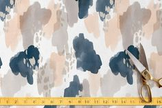 Painterly Splash Fabric by Alethea and Ruth at minted.com