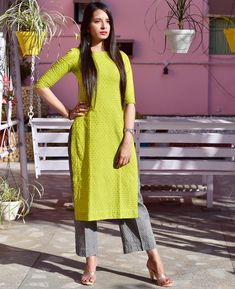Add to ur cart. Store this superb outfit solely at Pittara. - Suit World Salwar Designs, Kurti Neck Designs, Kurta Designs Women, Kurti Designs Party Wear, Mehndi Designs, Dress Indian Style, Indian Dresses, Indian Outfits, Stylish Dresses
